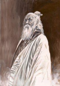 Festmeny a Tai Chi alapito taoista bolcsrol Chang San Feng-rol Hiu-tol