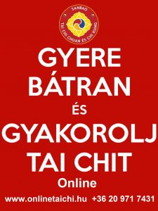 Gyere Bátran és Gyakorolj Tai Chit! onlinetaichi.hu SanBao Tai Chi Chi Kung Nei Kung